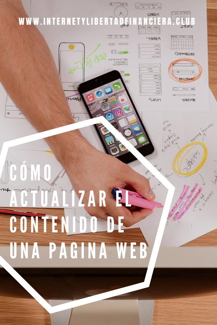 Cómo actualizar el Contenido de una Pagina Web